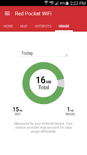 Red Pocket WiFi App - náhled