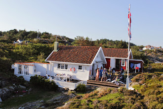 Photo: Karin's picturesque summer cottage is set among the coastal rocks 40 m from the sea.