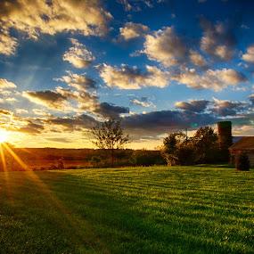 October Takes Hold Over Ohio by Jim Crotty - Landscapes Sunsets & Sunrises ( calm, ohio, jim crotty, sunset, serene, dayton, peace, beavercreek, october, beauty, landscape, raptor ridge,  )