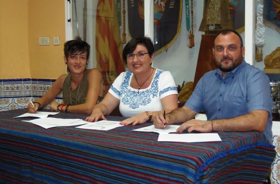 Santa María Micaela, firma los contratos con sus artistas falleros 2018