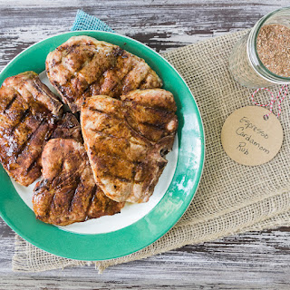 Grilled Pork Chops with Espresso Cardamom Rub.