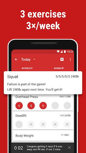 Stronglifts 5x5 - Weight Lifting & Gym Workout Log screenshots 2