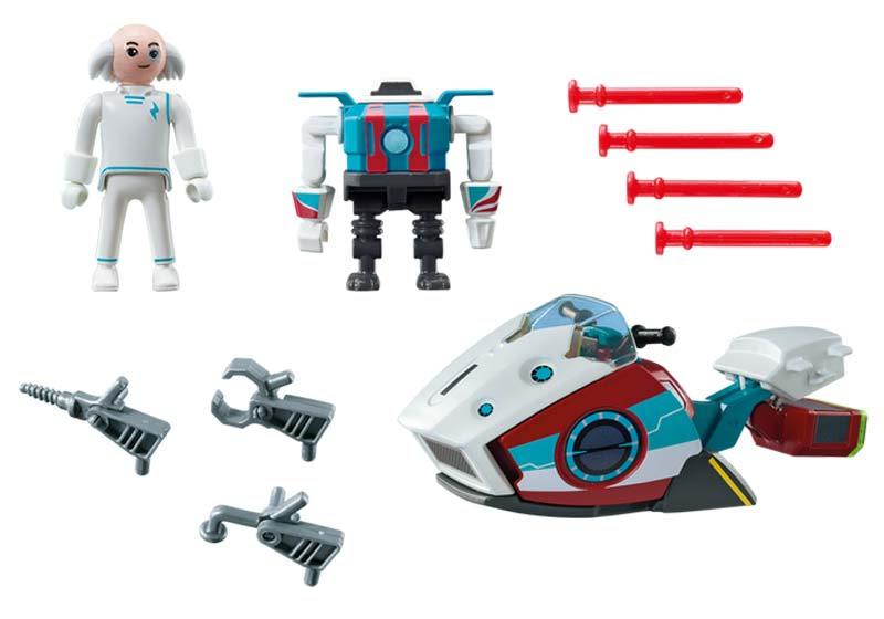 Contenido de Playmobil® 9003 Skyjet con doctor X y Robot