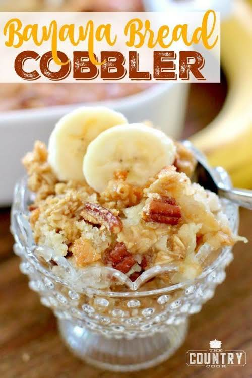 """Click Here for Recipe: Banana Bread Cobbler """"Oh my goodness! You are..."""