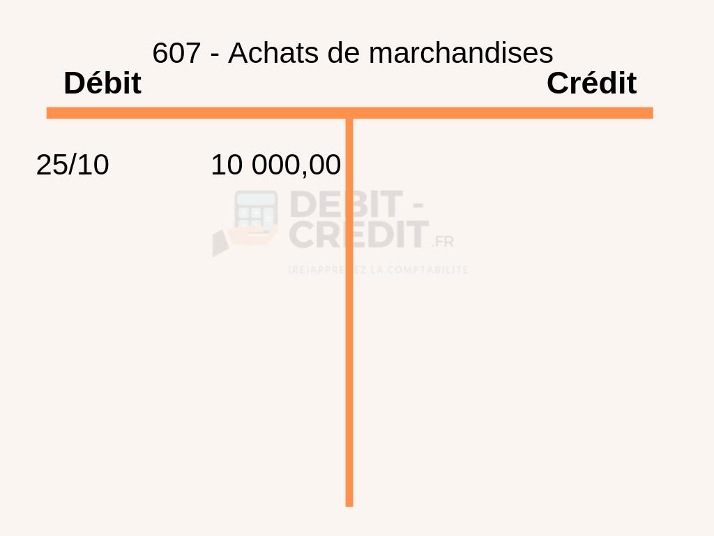 debit-credit.fr :  écritures comptables avec charge compte en T avec date