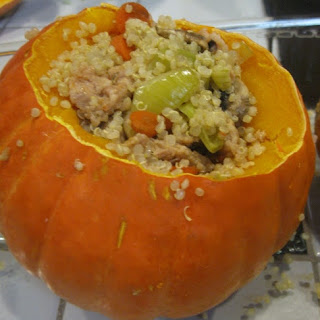 Quinoa and Sausage Stuffed Squash