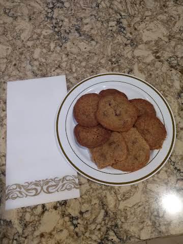 Thin, Crispy Chocolate Chip Cookies