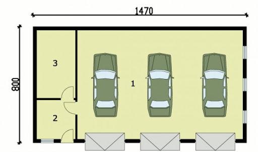 G160 - Rzut garażu