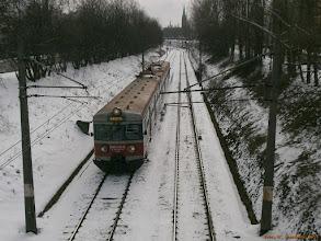 """Photo: EN57-737, Bydgoszcz Główna - Iława Główna {szlak Toruń Miasto - Toruń Wschodni (""""wąwóz kolejowy""""); 2013-03-22}"""