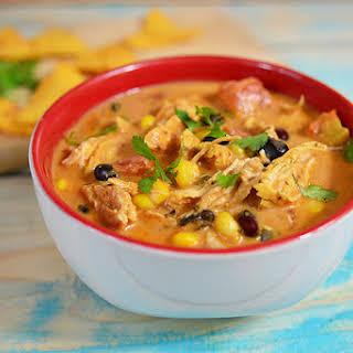 Slow Cooker Chicken Enchilada Stew.