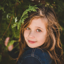 Into the woods by Vix Paine - Babies & Children Child Portraits ( goldenhour, colour, leaves, sunset, girl, portrait, trees, sun, child,  )