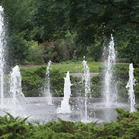 by Mark Hopkins - City,  Street & Park  Fountains