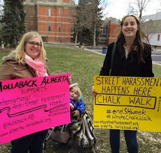 Photo: 4.18.15 Hollaback Alberta chalking in Canada