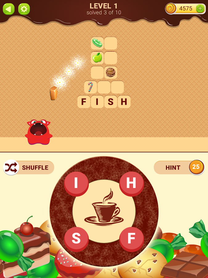 Words with Sweets- screenshot