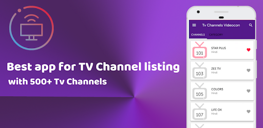 App for Videocon d2h TV Channels List-All Channels – Apps on