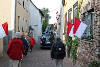 Photo: Fejring af Hildegard - flag i gaderne
