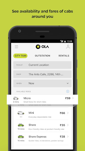 Ola Lite: Lighter Faster Ola App. Book Taxi & Cabs Apk apps 1