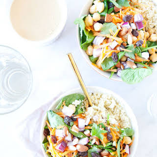 Moroccan Chickpea Bowls with Cauli-Rice.