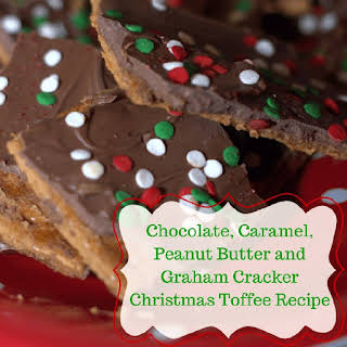 Chocolate, Caramel, Peanut Butter and Graham Cracker Toffee.