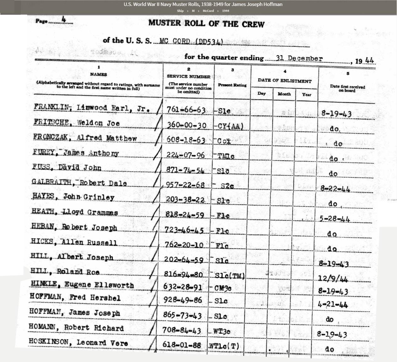JJ Hoffman Muster Roll DEC 1944.jpg
