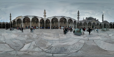 Photo: Courtyard of the Blue Mosque. It's huge, and we haven't even entered the building yet!
