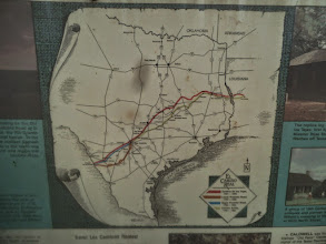 Photo: Color coded map for OSR and Camino Real - OSR marker, Crockett