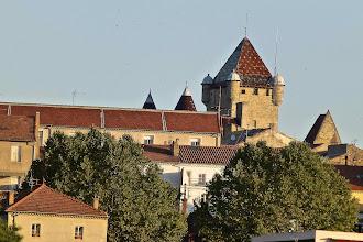 Photo: Le Château d'Aubenas au matin vu depuis le dortoir