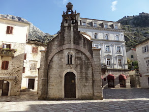 Photo: St. Luke's church was built in 1195.  Croatia is 85% Roman Catholic.  Montenegro is only 4% Catholic and 43% Serbian Orthodox.