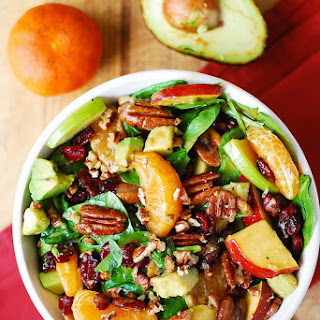 Recipe Apple Cranberry Spinach Salad With Pecans Avocados