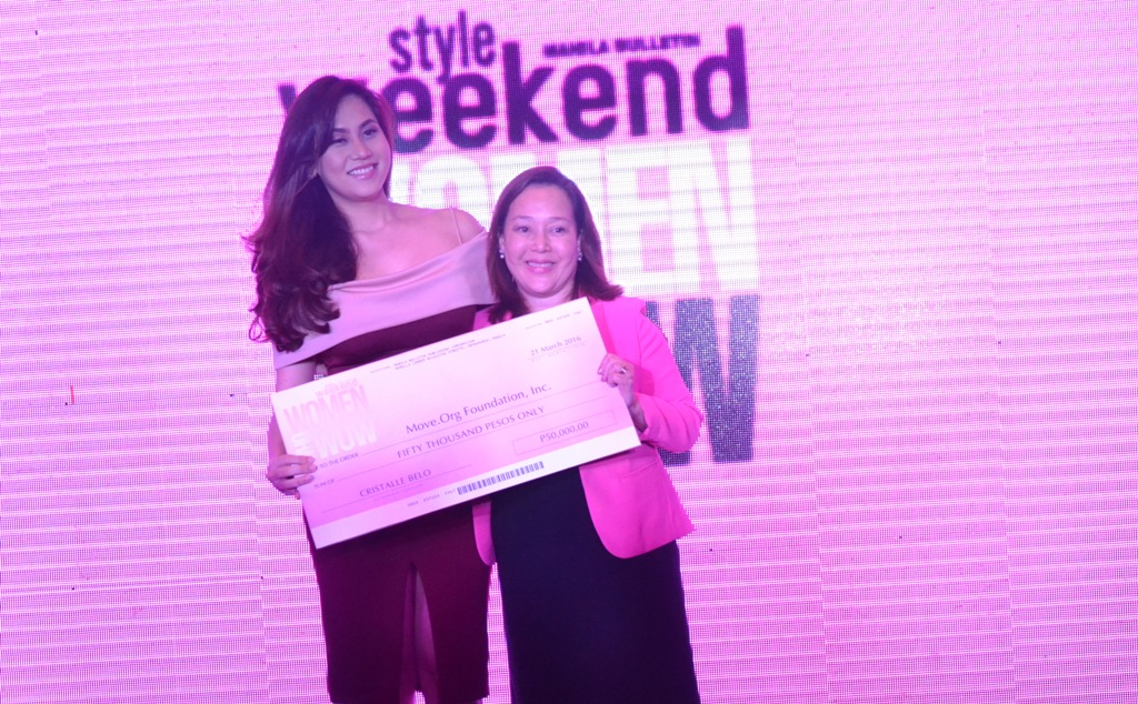 MOVE.ORG RECEPIENT OF CRISTALLE BELO'S DONATION