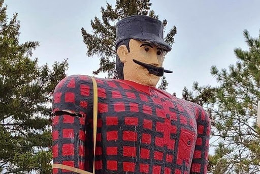 Police investigating how arm was broken on Bemidji's iconic Paul Bunyan statue