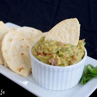 Guacamole Hummus with Football Chips