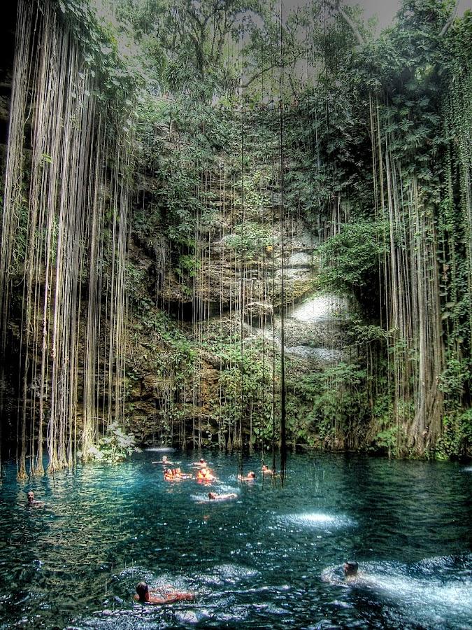 Cenote Sagrado Mexico by Jime Fernandez - Travel Locations Landmarks