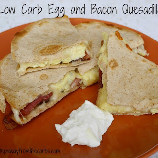 Low Carb Egg and Bacon Quesadilla.