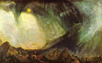 """Photo: William Turner, """"Annibale e il suo esercito attraversano le Alpi"""" (1812)"""
