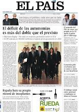 """Photo: En nuestra portada del miércoles: """"El déficit de las autonomías es más del doble que el previsto"""", """"El acuerdo del PSC de tener voz propia en la UE agria el pulso por el liderazgo"""", """"España bate su propio récord de trasplantes"""". http://www.elpais.com/static/misc/portada20120111.pdf"""