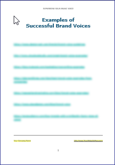 Expressing Your Brand Voice - Examples