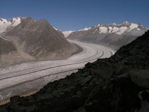 Photo: Aletsch Glacier, the longest glacier in Europe