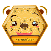 Cute Chubby Yellow Bear Keyboard Theme Android APK Download Free By Bs28patel