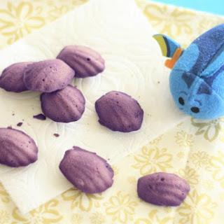 Purple Shell Cookies - Blackberry Mandeleines - Finding Dory Cookies Recipe