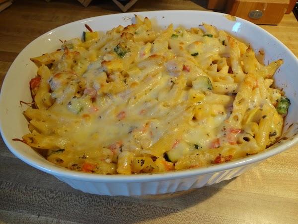 Baked Ziti And Summer Veggies Recipe