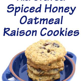 Spiced Honey Oatmeal Raisin Cookies.
