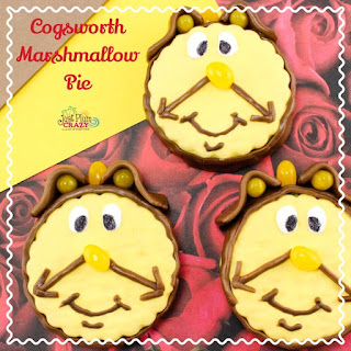 Cogsworth Marshmallow Pie Recipe from Beauty and The Beast #BeOurGuest #BeautyAndTheBeast.