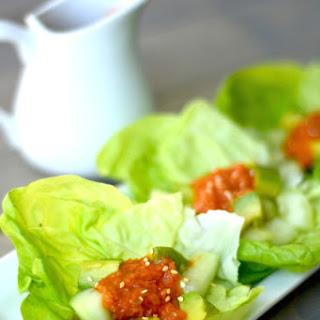 Avocado Cucumber Salad with Benihana's Ginger Salad Dressing