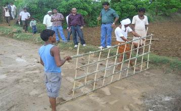Photo: Bamboo marker in Madhya Pradesh.