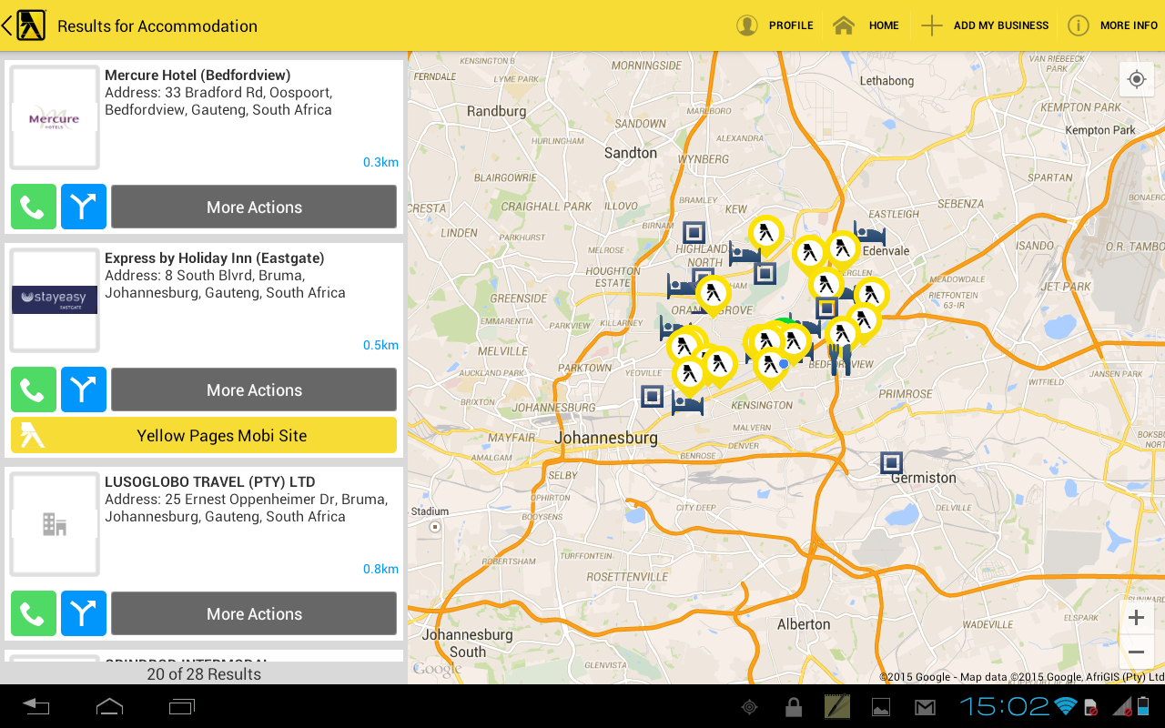 Yellow Pages South Africa- screenshot