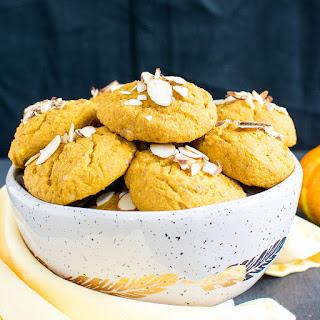 Almond Butter Pumpkin Oatmeal Cookies.