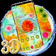 3D Live Colorful Flowers Theme