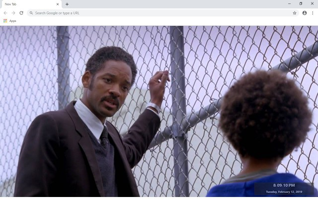 The Pursuit of Happyness New Tab Theme