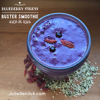 Wild Blueberry Stress Buster Smoothie